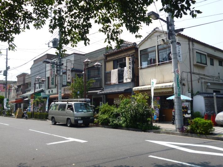 Casa japonesas al mediodía