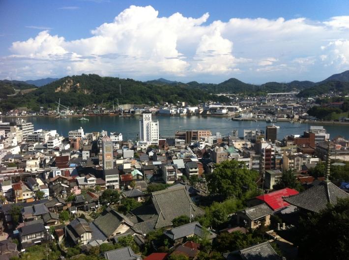 Vistas de la ciudad de Ônomichi