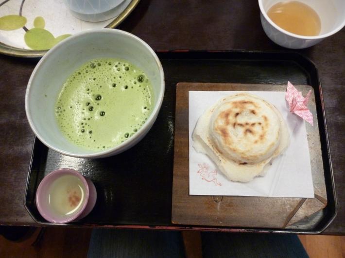 Umegaimochi y matcha