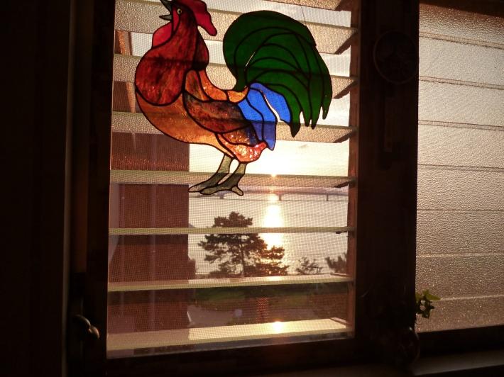 Ventana de la cocina en la casa de Fumiyo