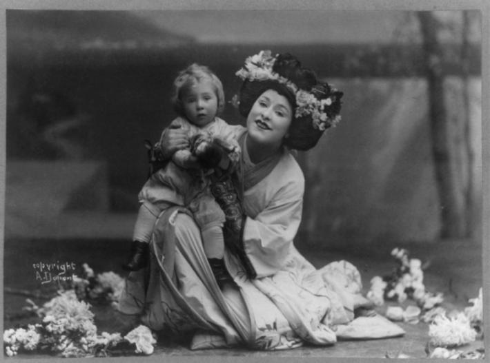 Geraldine Farrar en Madame Butterfly