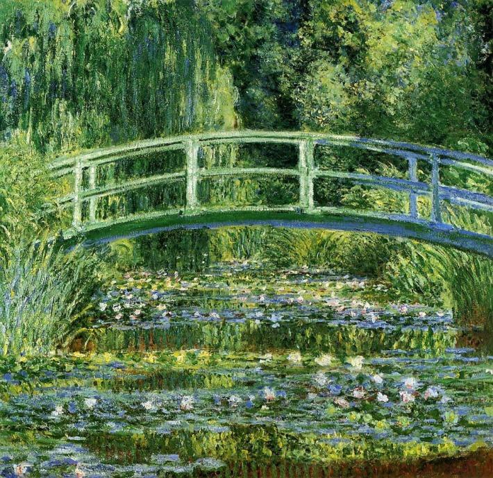 Nenúfares y puente japonés. Claude Monet