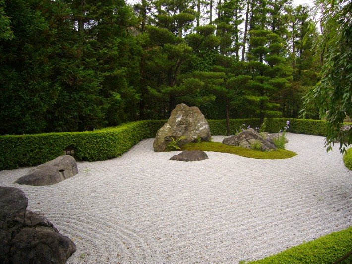 Jardín zen en Kioto
