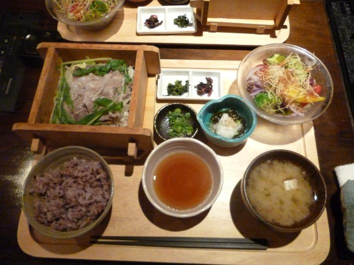 Set de menú de verano. Restaurante de Hiroshima