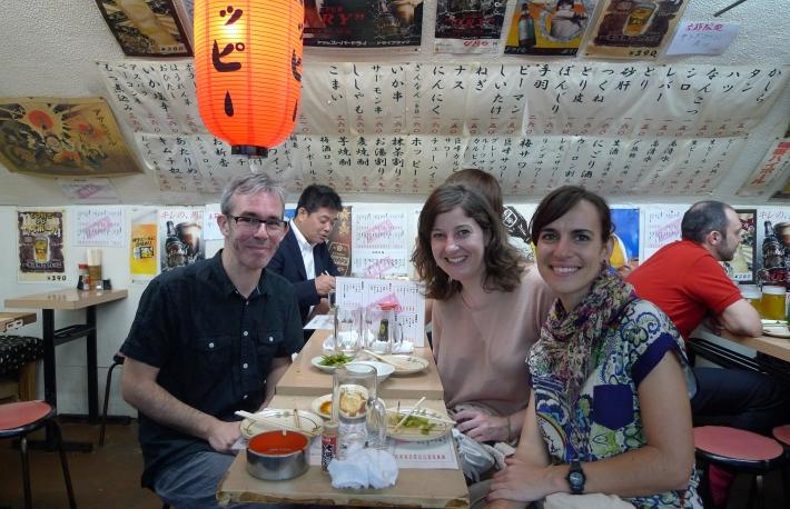 Anna, Nacho y yo en Yûrakuchô