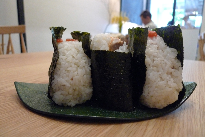 Omusubis del restaurante GABA Rice