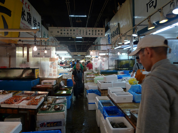 Pasillos del interior de Tsukiji