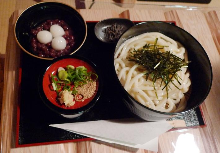 Udon y warabi con azukis