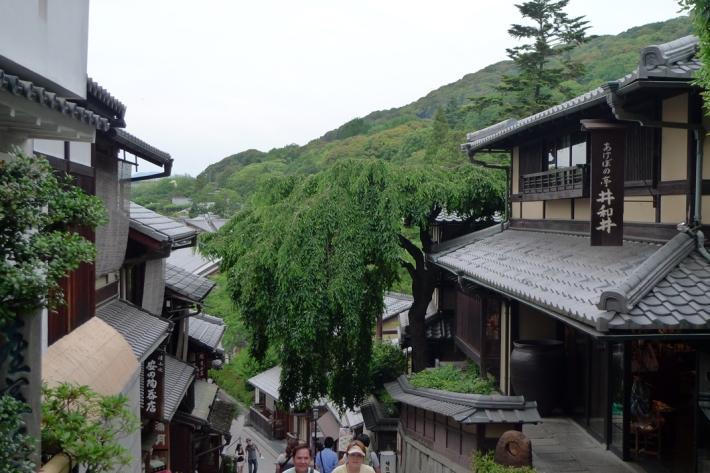 Calles cercanas a Kiyomizu. El sauce.