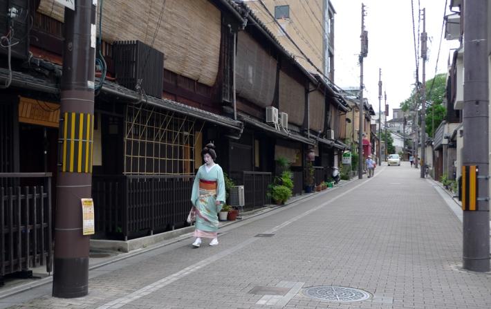 Geisha de camino a casa