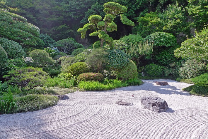 Jardín zen del templo Hokokuji