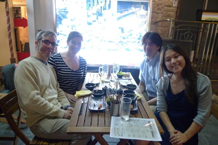 Con Hide y su novia en Dôtonbori, Ôsaka