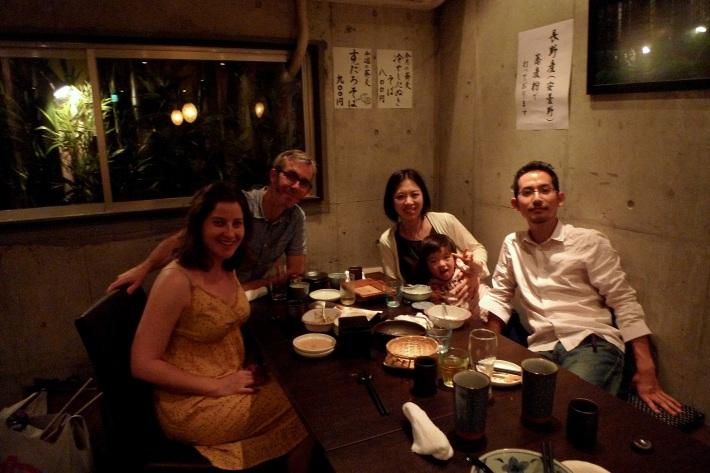Cena con Sakurako, Tengo y Yoshi