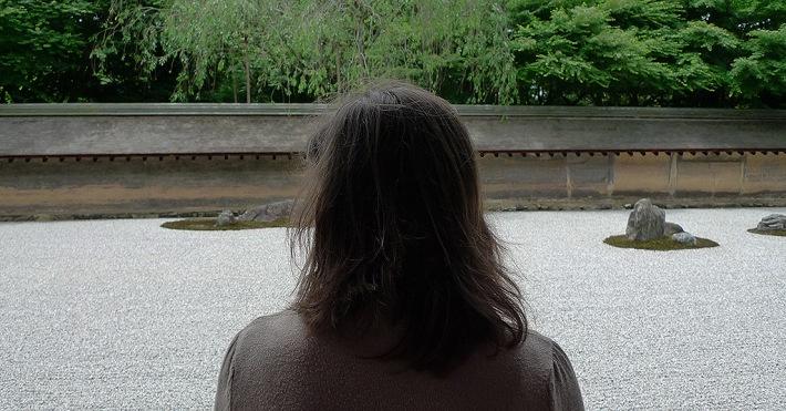 Ante el jardín seco de Ryoanji