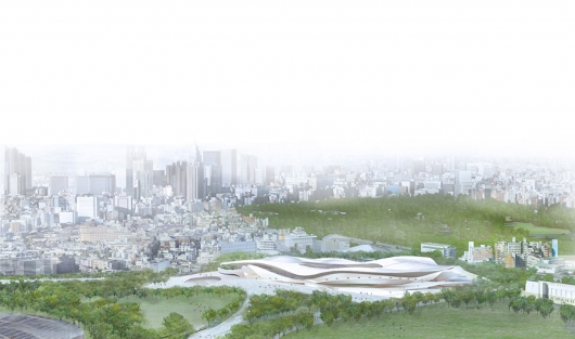 Japan National Stadium. SANAA + Nikken Sekkei Ltd. Imagen de Japan Sport Council ©