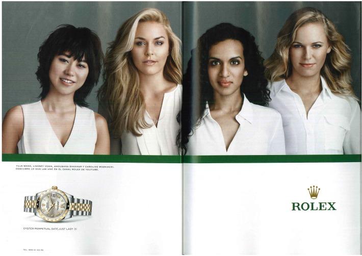 Anuncio de Rolex con Yuja Wang, Lindsey Vonn, Anoushka Shankar y Caroline Wozniacki