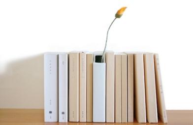 Florero de funda de libro. Fumiaki Goto©