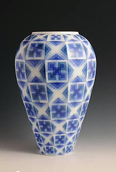 Jarrón de cerámica de Arita 1