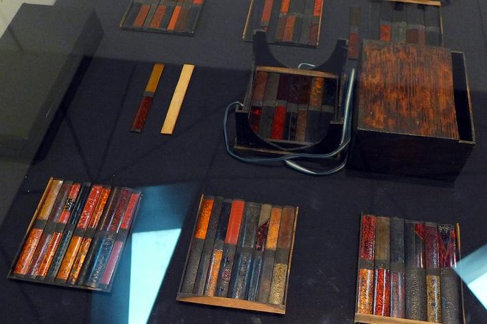 Muestrario de maderas para la vaina de la katana (saya)