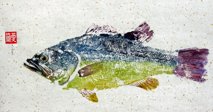 Gyotaku a color. Jean Kigel