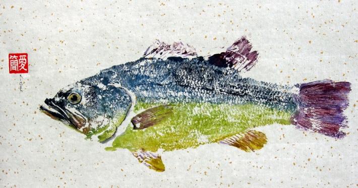 Gyotaku a color. Jean Kigel