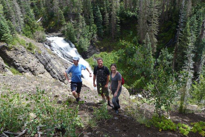 De camino a la catarata